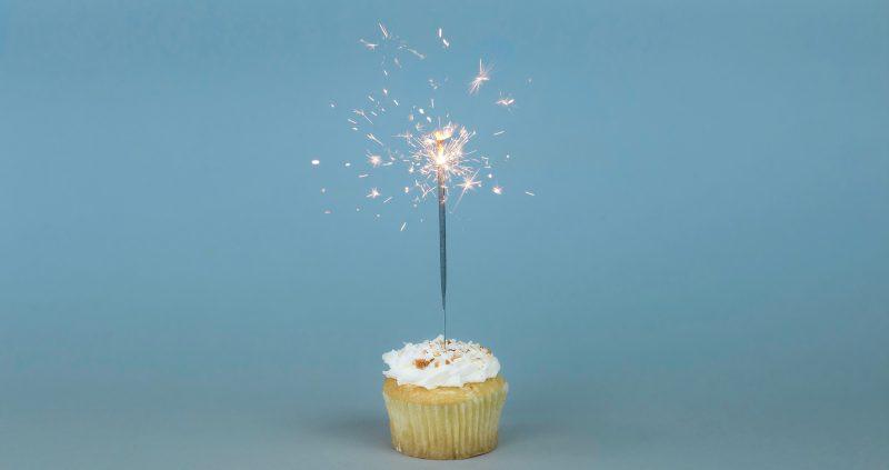 One year cupcake